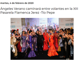 Ángeles Verano caminará entre volantes en la XIII Pasarela Flamenca Jerez -Tío Pepe