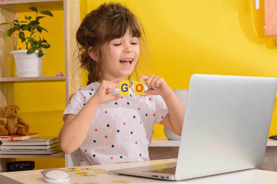 Children learn english online at home. H