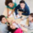 Group of Young Students Studying togethe