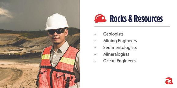 Rocks & Resources Module Sign