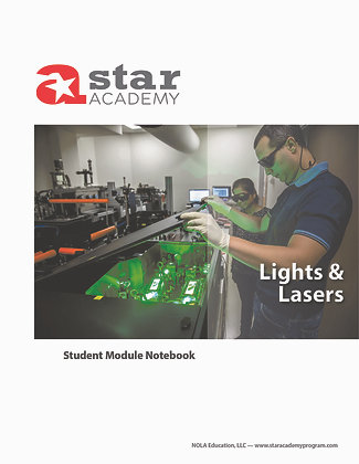 Lights & Lasers Binder Cover