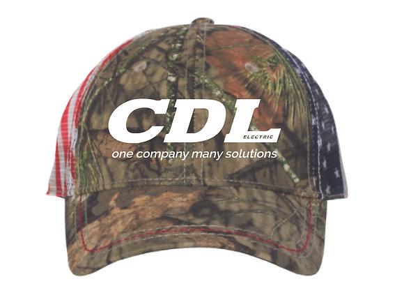 Camo + Flag CDL Hat