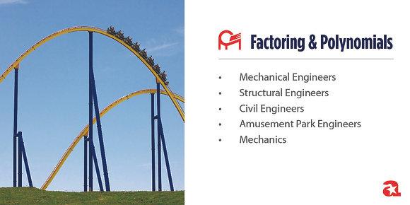 Factoring & Polynomials Module Sign