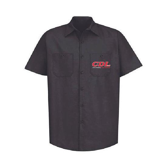 Red Kap Industrial Work Short Sleeve Shirt