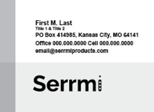 Serrmi Business Cards