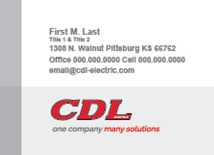 CDL Electric Business Card