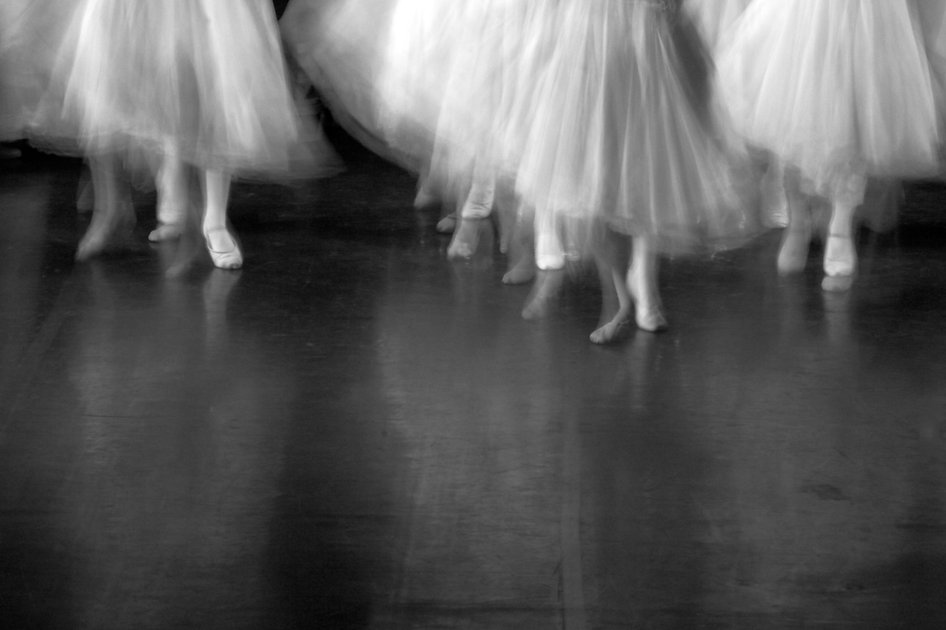 Dancers on stage during a recital. Lots
