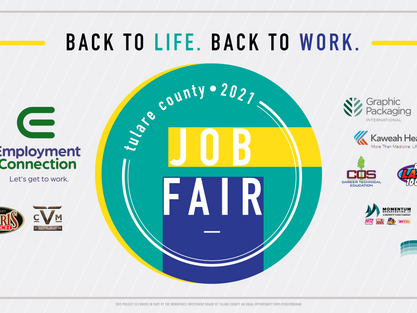 County's Largest Job Fair will be held September 29th at Visalia Convention Center