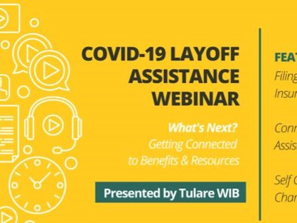 Weekly Webinar Provides Unemployment Insurance information and Support to Workers Impacted by COVID-