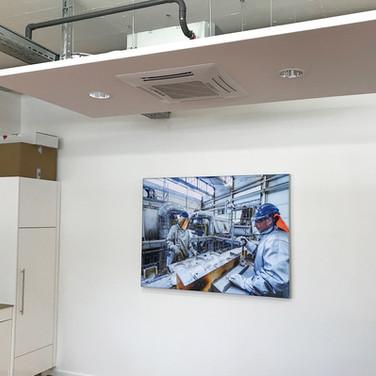 Deckensegel mit Klimaanlage und Beleuchtung