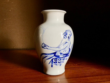 Dyeing vase