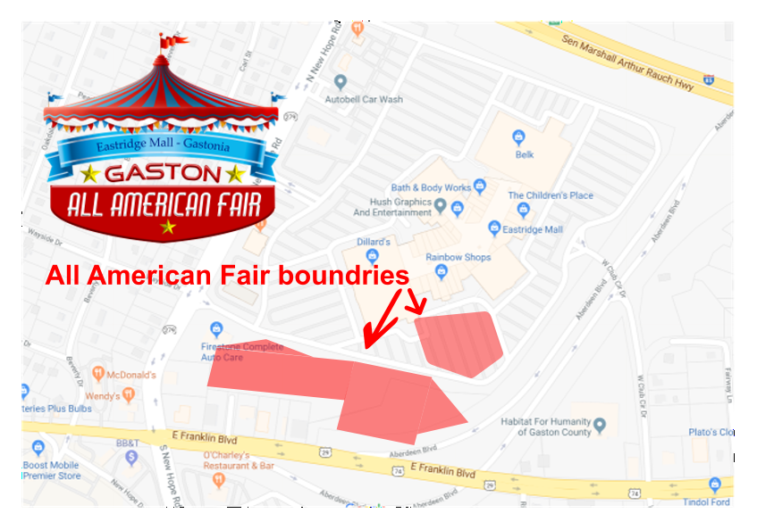 Gastonia July 4th Festival Maps Directions