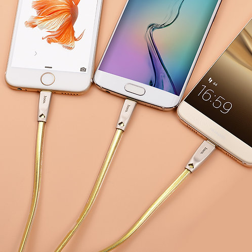 HOCO Cable USB to Lightning Micro-USB Type-C «U9» charging wire