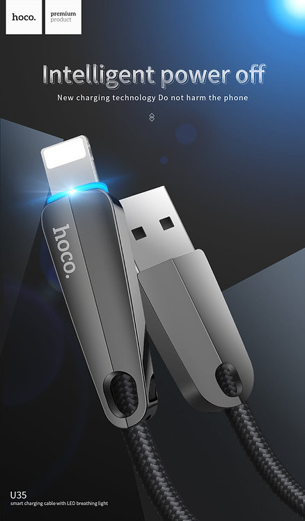 HOCO Cable Smart Power Off «U35 Space shuttle» charging data Micro USB