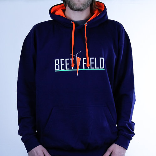 BEETFIELD Hoodie blue-orange