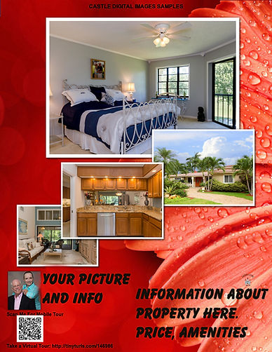 Custom Brochure we provide with pictures of house, price info, with contact information