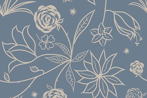 Floral Symphony Mask - Blue