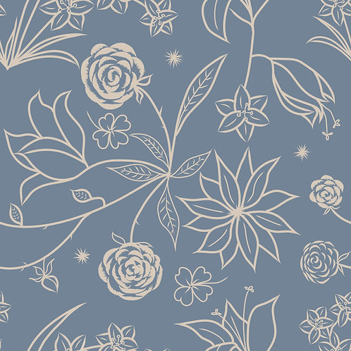 Floral Symphony - Blue