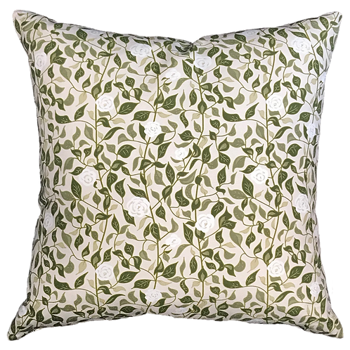 White Roses Pillow Cover