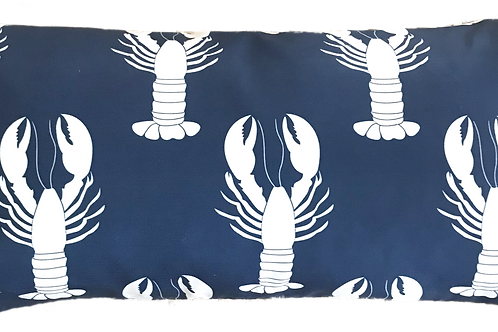 Navy Lobsters 12 x 22 Pillow Cover