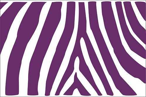 Purple Zebra Mask
