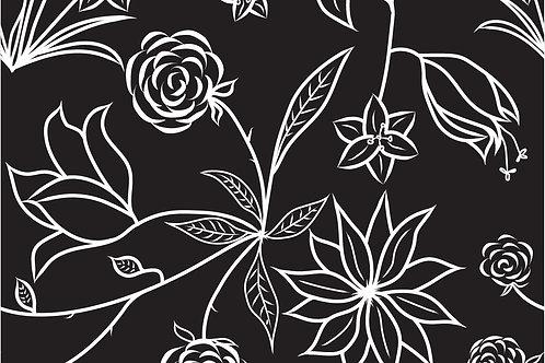 Floral Symphony Mask - Black