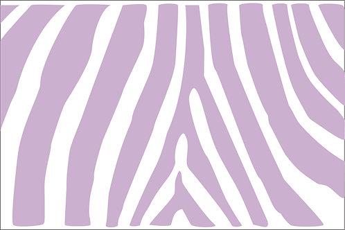 Lavender Zebra Mask
