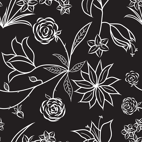 Floral Symphony - Black