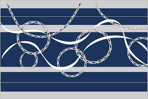 Navy Chains Mask