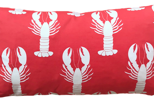 Red Lobster 12 x 22 Pillow Cover