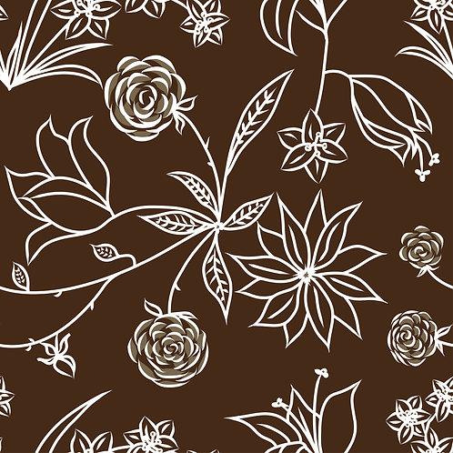 Floral Symphony-Brown