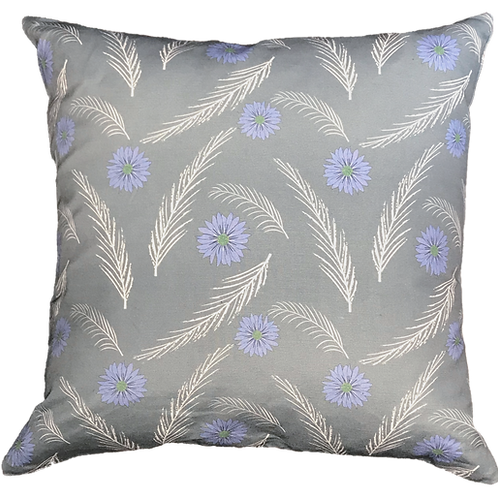 Feathers & Flowers Pillow Cover