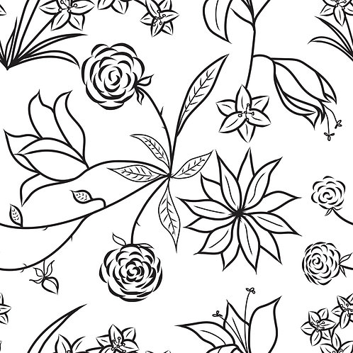 Floral Symphony - White