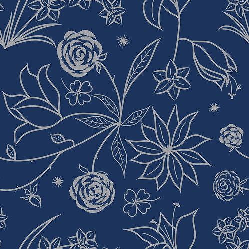 Floral Symphony-Navy