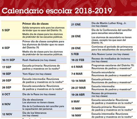 Nyc Doe School Calendar.Official Nyc Doe School Year 2018 2019 Calendar