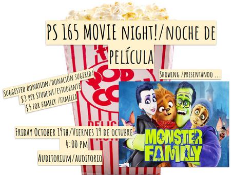 PS 165 Movie Night! / ¡Noche de Película PS 165!