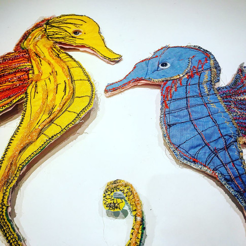 Sea Horse puppets