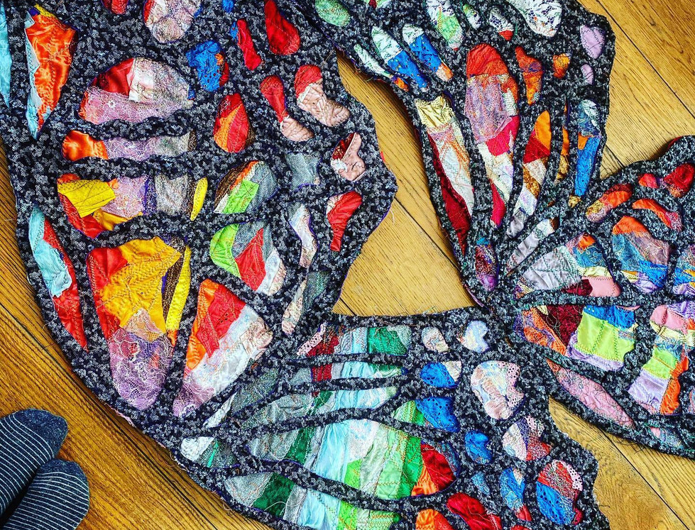 Making the giant wearable butterfly