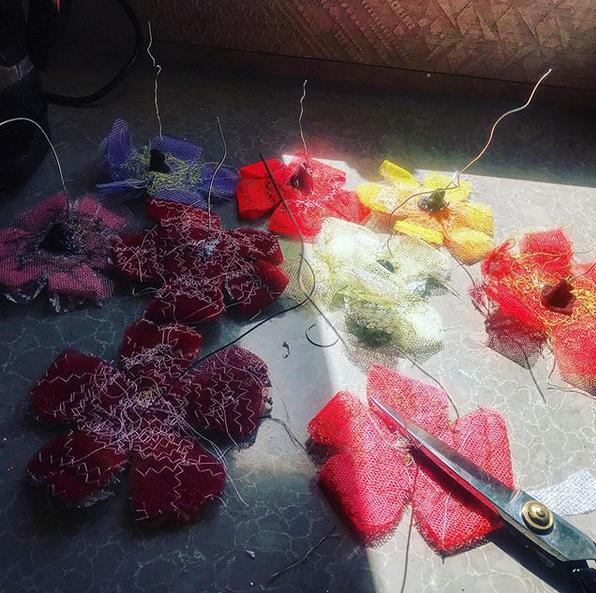 Flowers for the bridge