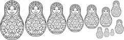Template for the matryoshka doll apron
