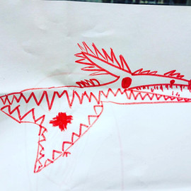 Scary Sea Dinosaur