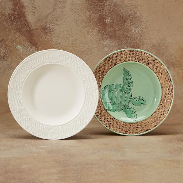 burlap dinner plate