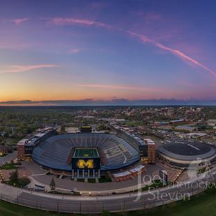 The Big House Michigan sunset