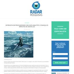 Blog da Radar Pesquisas