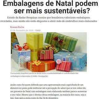 Embalagens de Natal podem ser mais sustentáveis?