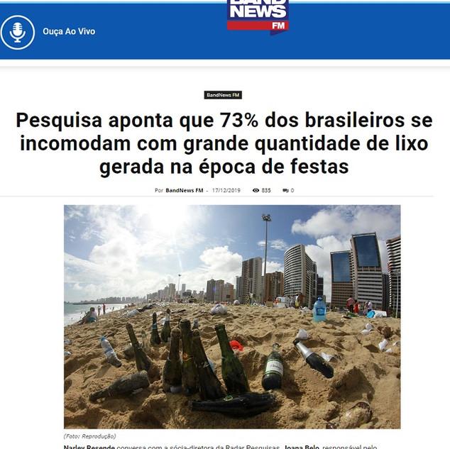pesquisa aponta 73% dos brasileiros