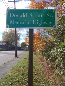 Donald Strout Sr. Memorial Sign