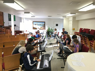 Group Piano Lessons in Full Swing!
