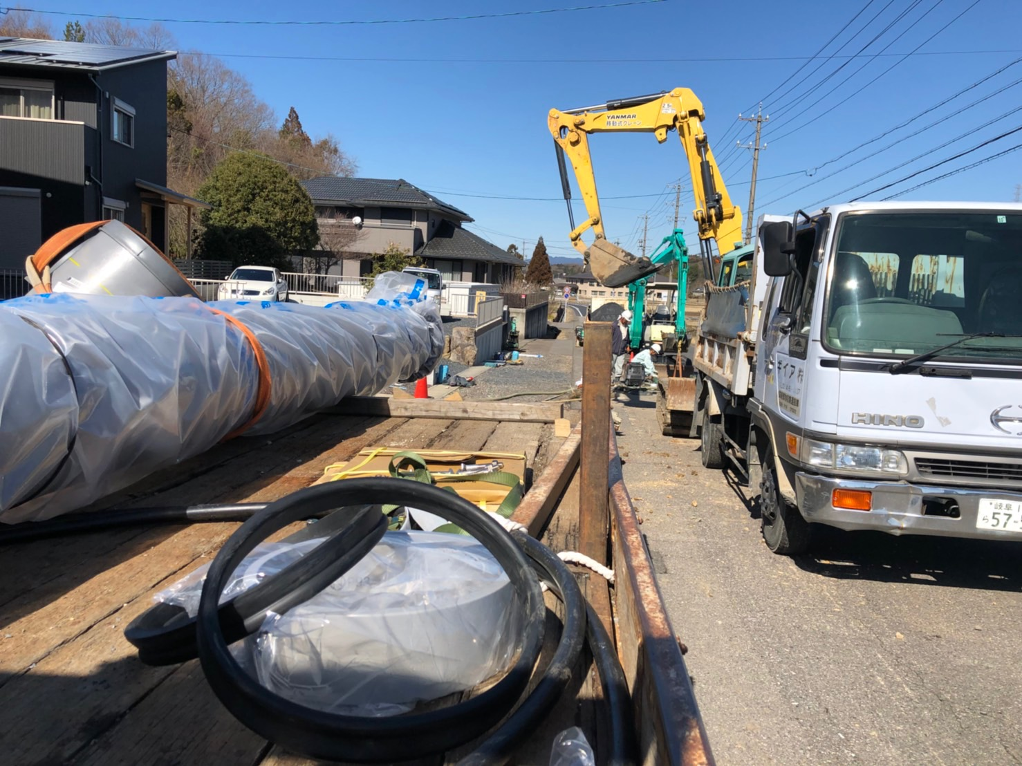 可児市塩地内送水管敷設工事