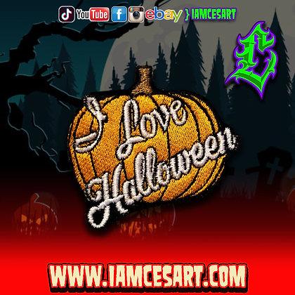 I Love Halloween Patch